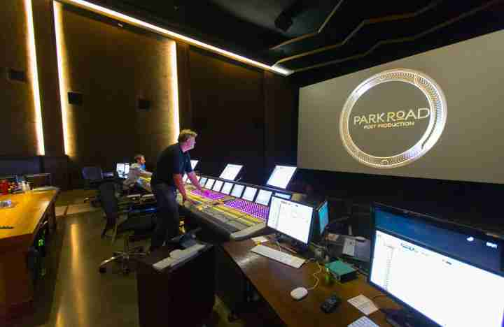 CN post production room screen